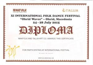 Zespół VOICE na festiwalu w Macedonii