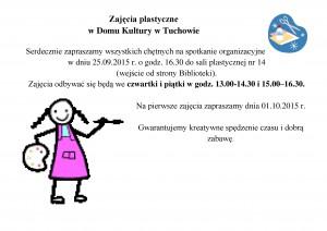 Zajęcia plastyczne w Domu Kultury w Tuchowie