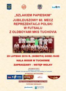 Jubileuszowy mecz reprezentacji Polski w futsalu z MKS Tuchovia